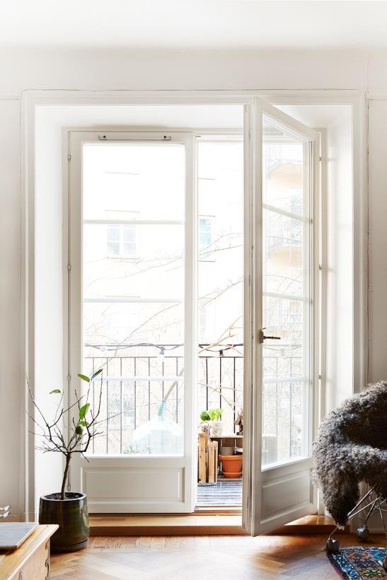 Balkong dörr