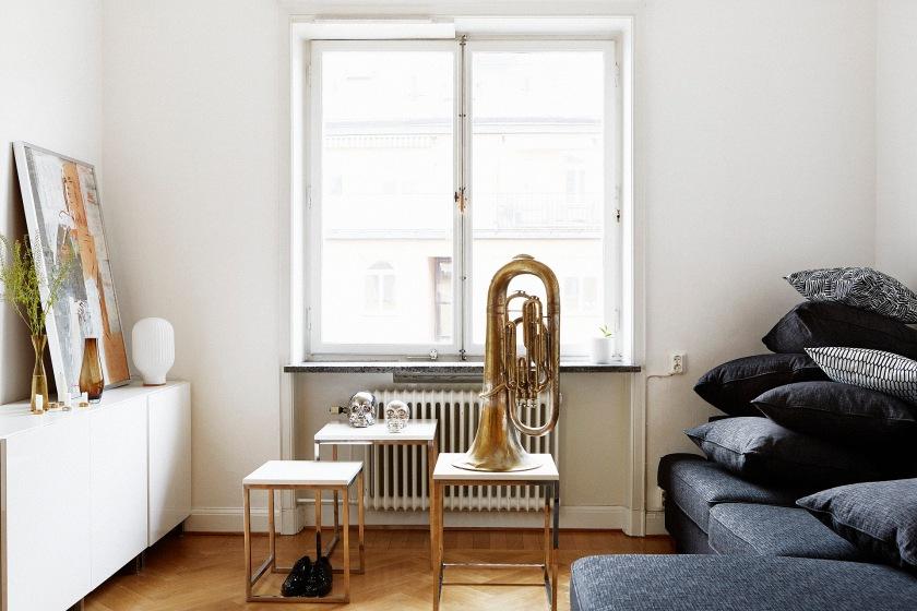 Vardagsrum Habitat kuddar trompet soffbord