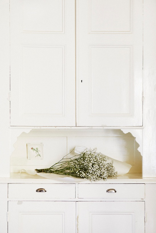 Kök köksskåp blommor