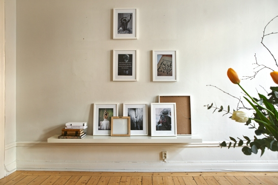 fotovägg konst vardasgrum sekelskifte blommor