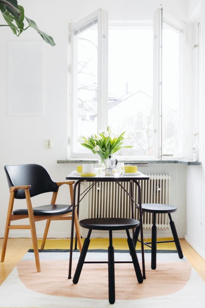 kök matbord pallar &Tradition stol fönster frukostbord