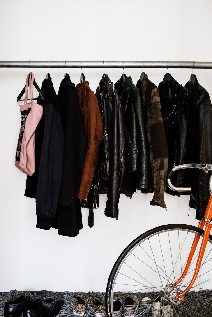 klädhängare cykel kläder garderob