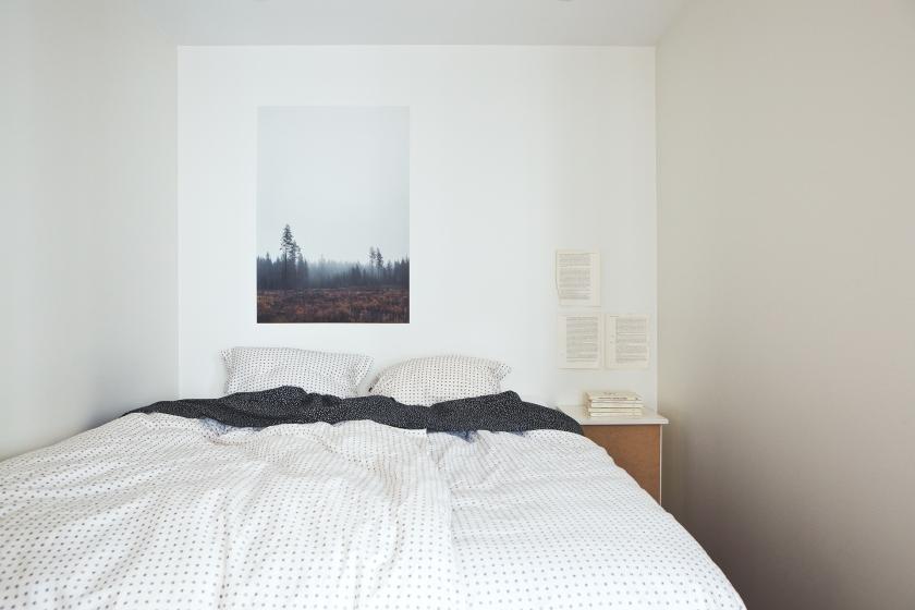 Säng foto vitt sovrum