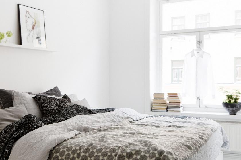 sovrum säng Brita Sweden konst
