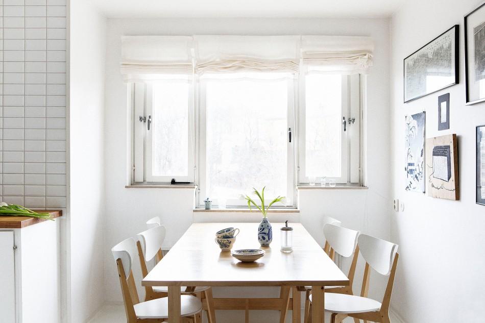 kök matbord fönster konst