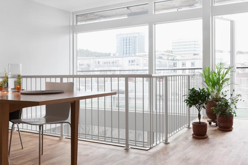 Matbord utsikt övervåningen stol växter