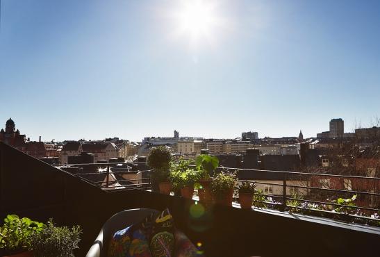 Utsikt balkong balkongmöbler Svenskt Tenn Josef Frank