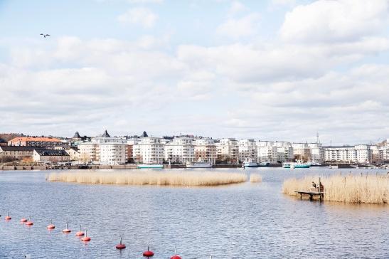 Hammarby sjöstad båtplats båtar sjönära