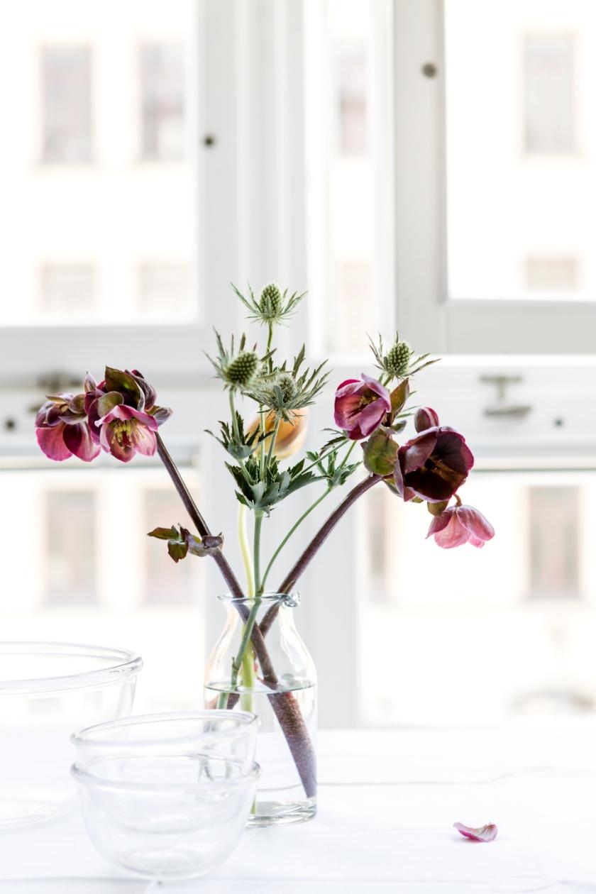 Norrmalm blommor lila