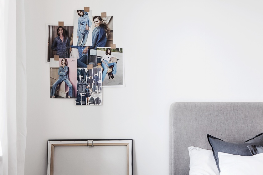 Stora Essingen sovrum fotovägg golvtavla