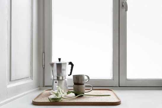Vasastan kök kaffe djup nisch fönsterspegel