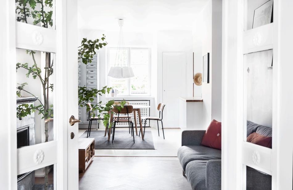 Atlasmuren 16 Stockholm livingroom teak grey green white brown fantastic frank