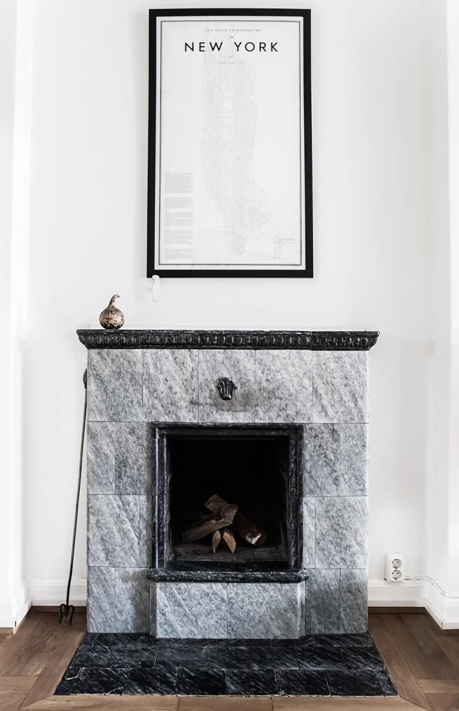 Atlasmuren 16 stockholm open fire eldstad poster new york marmor marble brown white fantastic frank