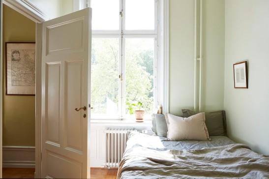 Drottningholmsvägen 2 stockholm bedroom sunlight green grey fantastic frank