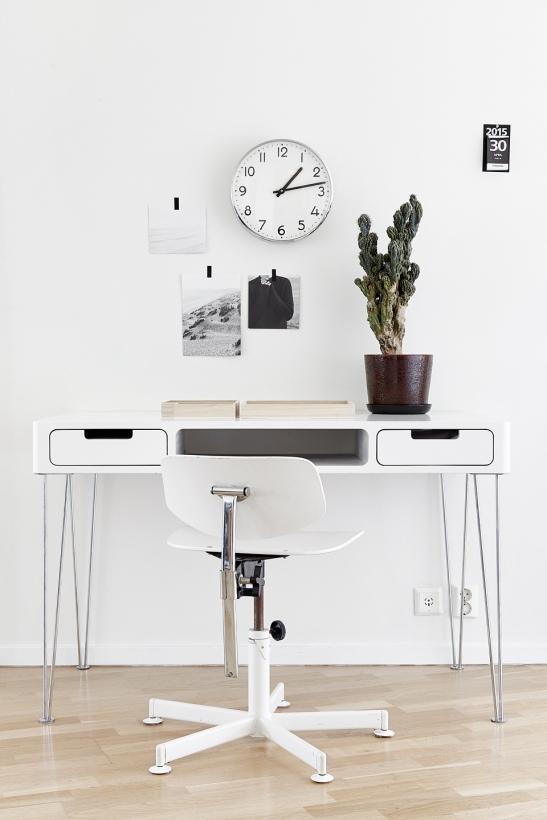 Hammarby sjöstad arbetsbänk klassisk klocka väggkonst