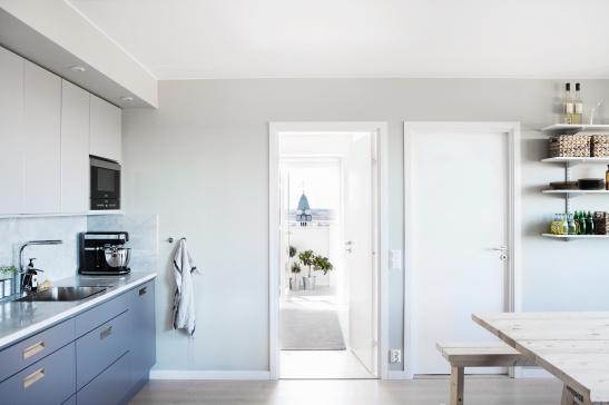 Sundbyberg kök marmorskiva marmor träbord utsikt