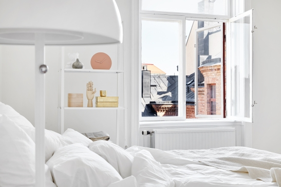 Bedroom with a view scandinavian interior Joakim Johansson Mimmi Staaf Sibyllegatan