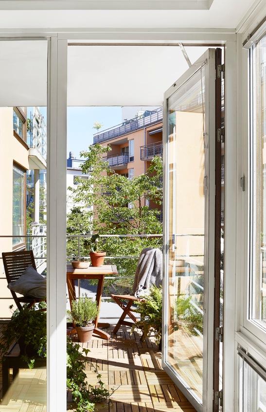 Sickla Kanalgata Hammarby Sjöstad  utsikt balkong vy grönska  Fantastic Frank