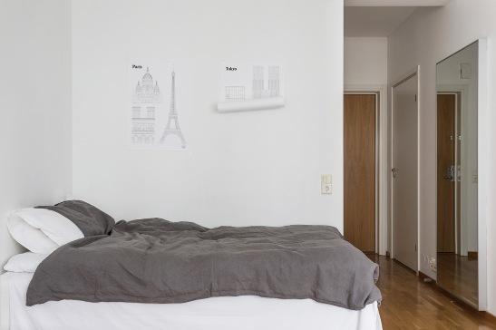 Hammarby Sjöstad bedroom plansch linnen grey white Fantastic Frank