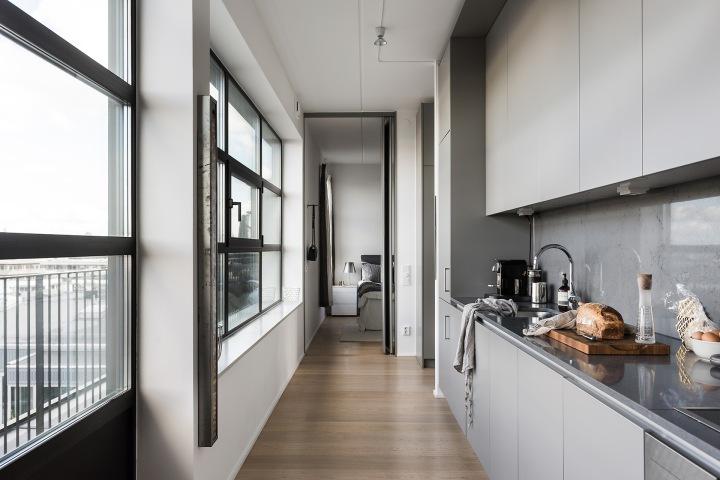 Hammarby sjöstad corridor kitchen grey kungsbalkong fantasticfrank