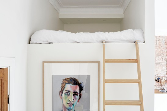 Hjärnegatan sovloft konst tavla ladder stege Fantastic Frank