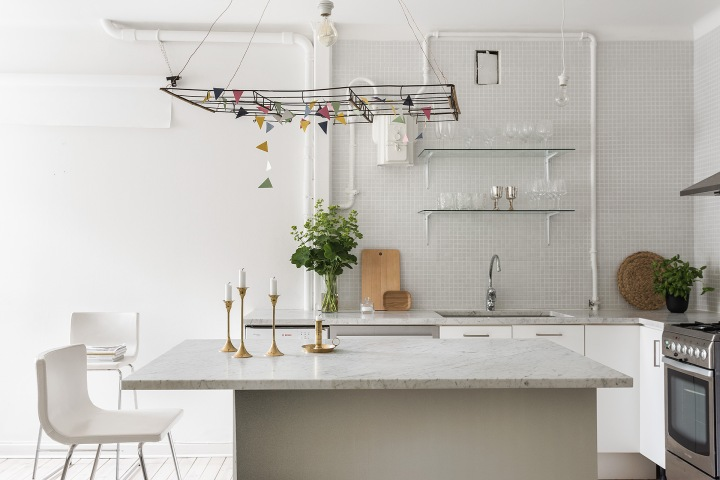 Kaplansbacken Kungsholmen brass köksö flags kitchen Fantasticfrank