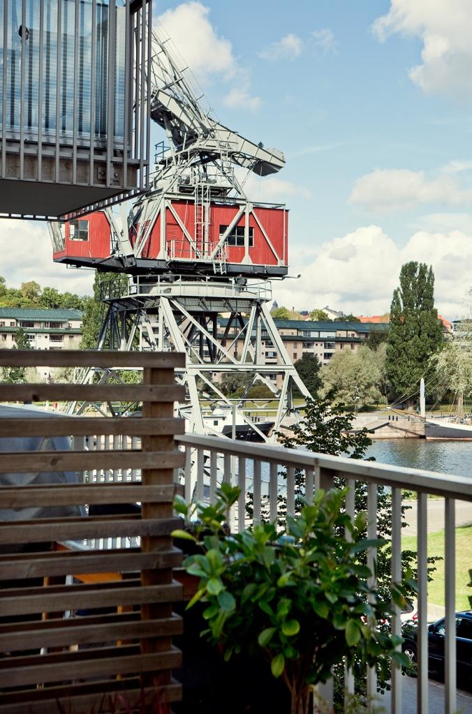 lumagatan hammarby sjöstad old crane view balcony Fantastic Frank