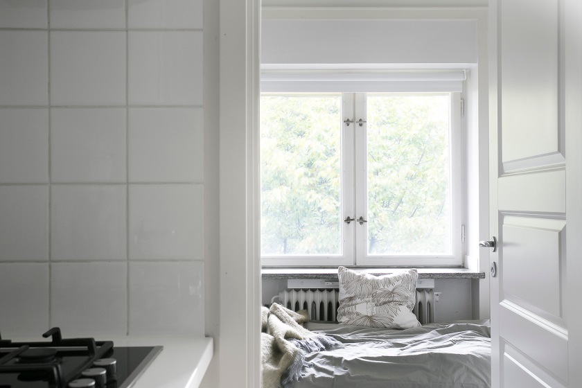 Valhallavägen sovrum grått vitt Fantastic Frank
