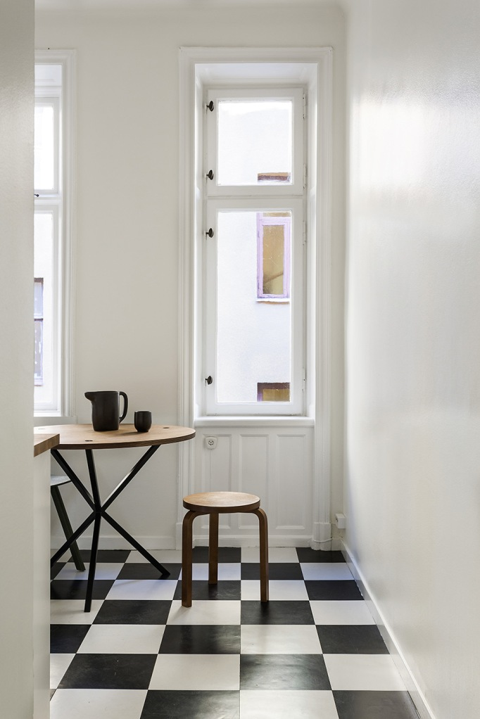 Vasastan Döbelnsgatan kitchen srtek noearlybirds checkered floor Fantastic Frank