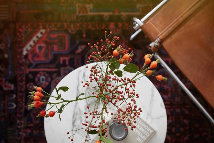 Södermannagatan sofo nypon orange red autumn details leather marble fantasticfrank