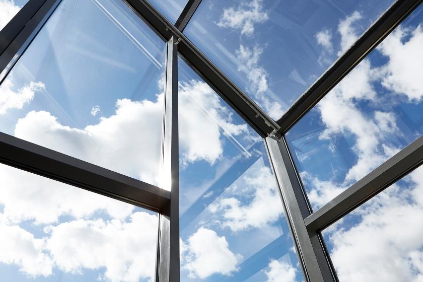 Sickla Kanalgata windows blue sky clouds fantasticfrank