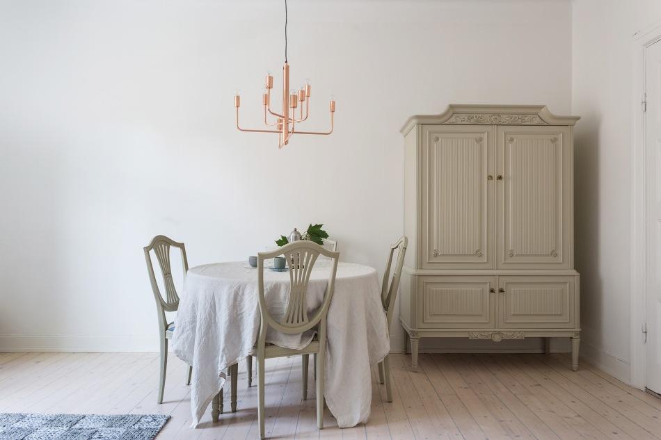 Brännerigatan Södermalm diningroom serveringsskåp copper Fantastic Frank