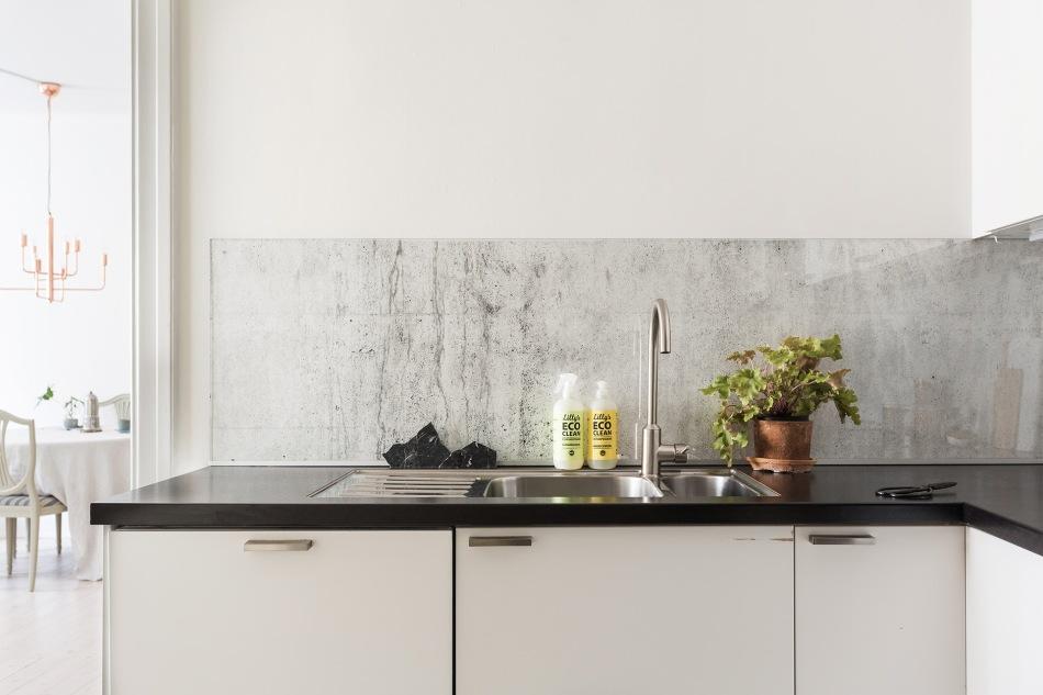 Brännerigatan Södermalm Kitchen marble sink Fantastic Frank