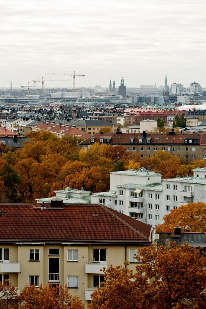 Furusundsgatan Stockholm view autumn city hall Fantastic Frank