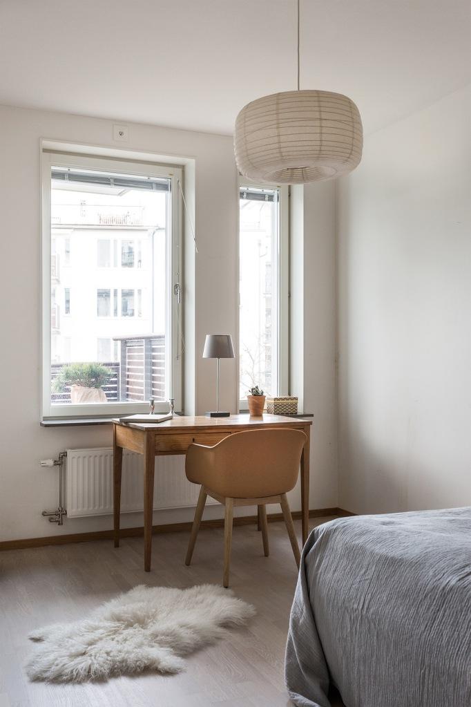 Korphoppsgatan Bedroom work space eams grey brown white Fantastic Frank