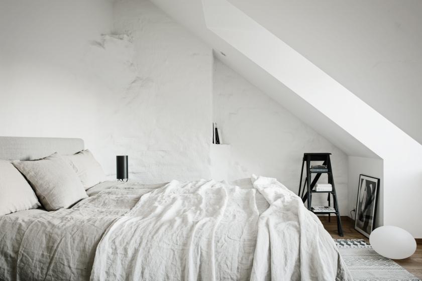Norrbackagatan Stockholm bedroom linnen attic Fantastic Frank