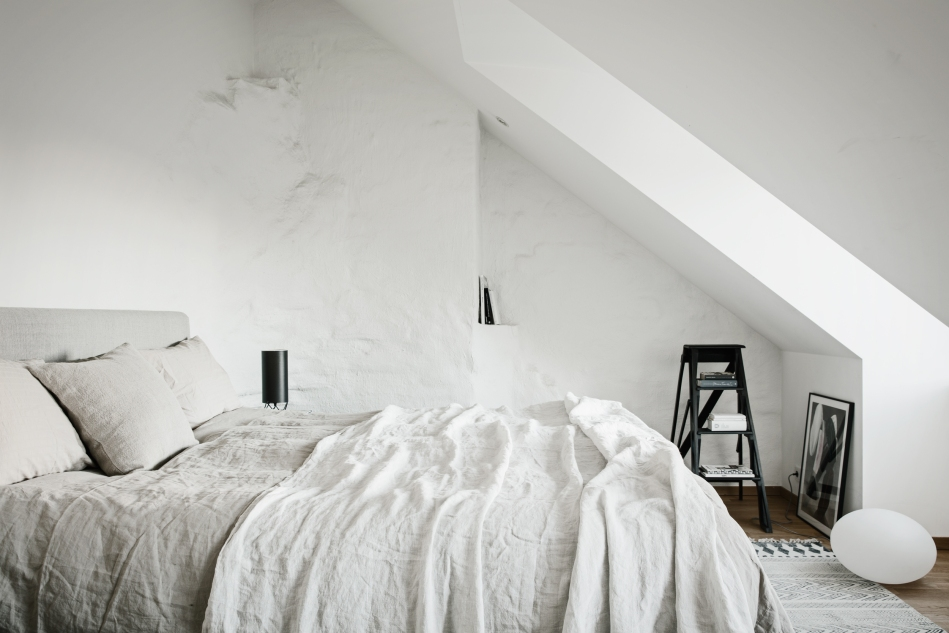 Norrbackagatan Stockholm bedroom linnen attic Fantastic Frank