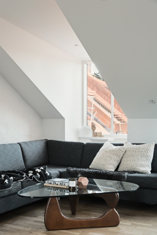 Norrbackagatan Stockholm livingroom sofa view attic Fantastic Frank