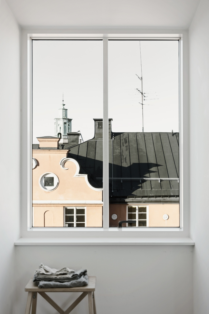 Norrbackagatan Stockholm view roof tops yellow attic Fantastic Frank