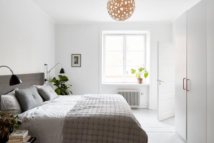 Rörstrandsgatan Stockholm bedroom grey white Fantastic Frank