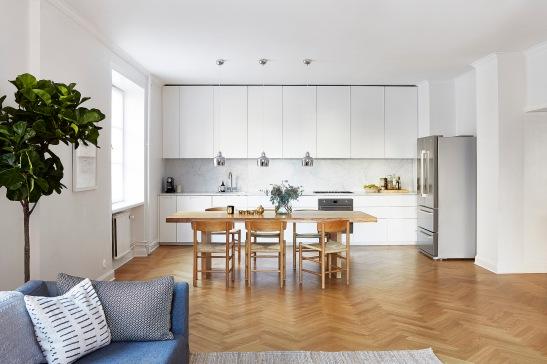 Rörstrandsgatan Stockholm livingroom kitchen öppen planlösning Fantastic Frank