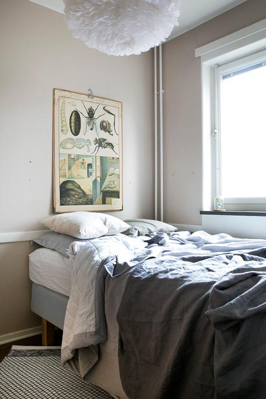 Ronnebyvägen bedroom linnen grey ants Fantastic Frank