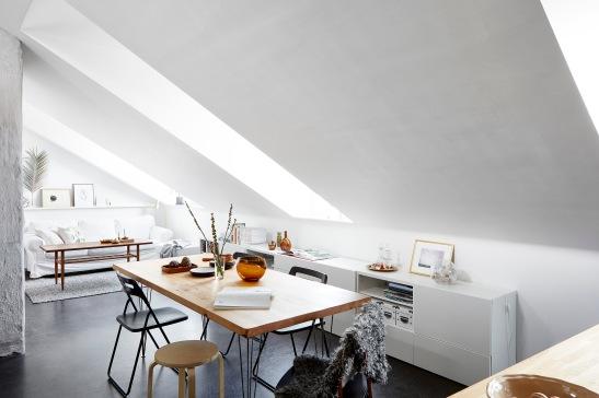 Rosenlundsgatan Stockholm livingroom artek white Fantastic Frank
