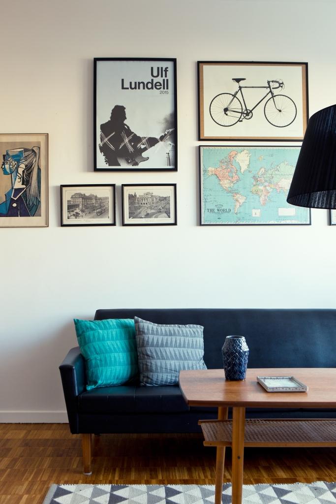 Siljansvägen Stockholm livingroom blue Fantastic Frank