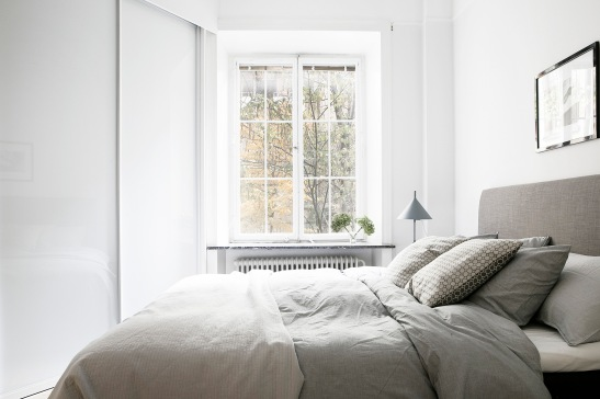 Skånegatan Stockholm bedroom grey white Fantastic Frank