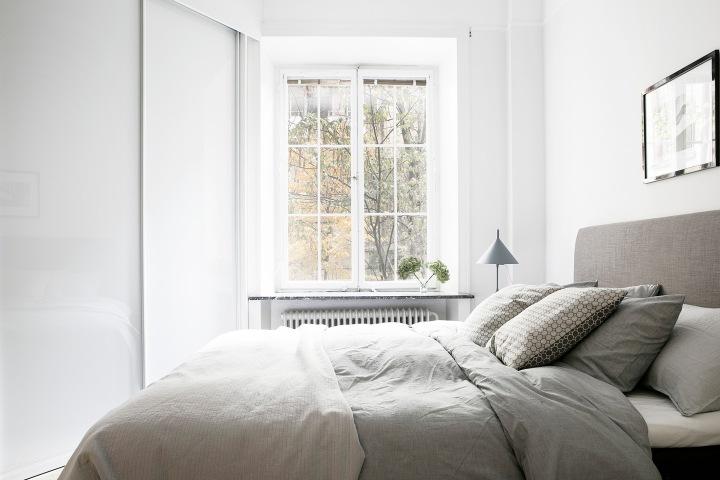 Skånegatan Stockholm bedroom grey white Fantastic Frank
