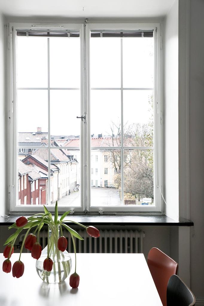 Skånegatan Stockholm dining room tulips nytorget Fantastic Frank