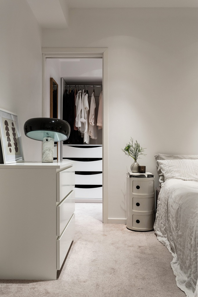 dalagatan bedroom carpet walk in closet linnen marble Fantastic Frank