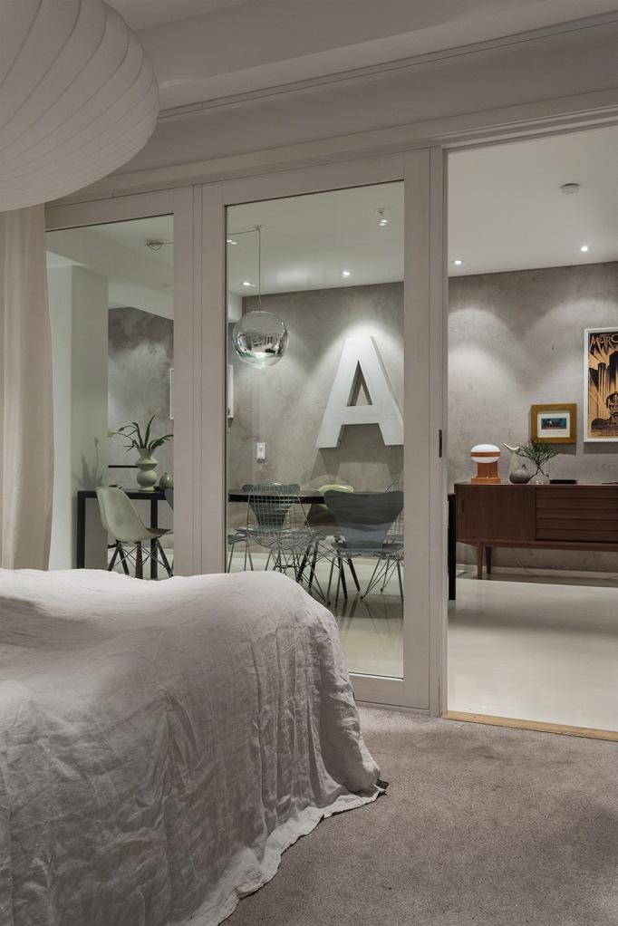 dalagatan bedroom livingroom A Eames grey Stockholm Fantastic Frank
