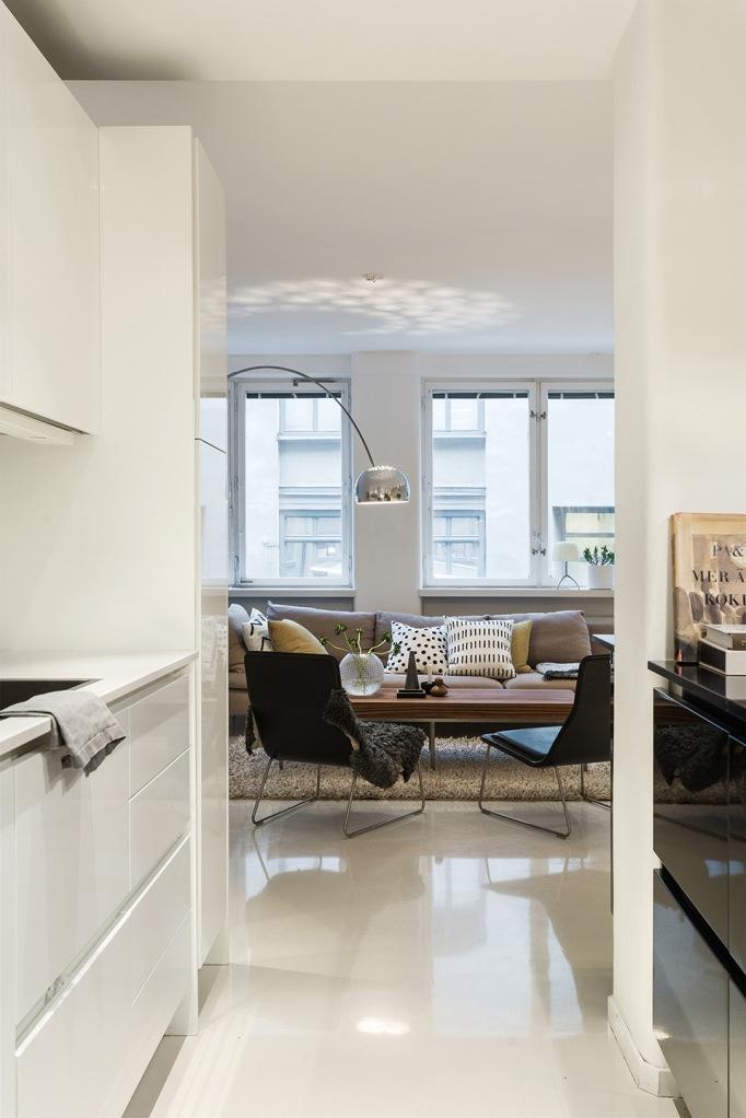dalagatan kitchen livingroom white windows Castiglione Stockholm Fantastic Frank